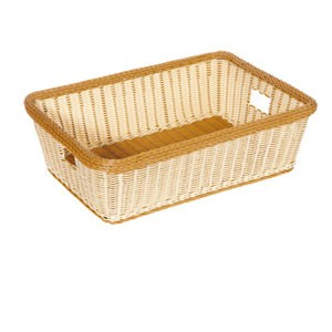 "GET Enterprises WB-1517-TT Designer Polyweave Two Tone Rectangular Basket 23"" x 17"" x 6"" - 1/2 doz"