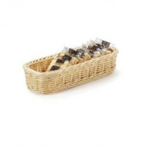 "GET Enterprises WB-1528-N Designer Polyweave Natural Rectangular Basket 9"" x 3-3/4"" x 2"" - 1 doz"