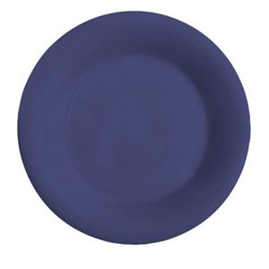 "GET Enterprises WP-10-PB Diamond Mardi Gras Peacock Blue Wide Rim Plate 10-1/2"" - 1 doz"