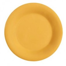 "GET Enterprises WP-10-TY Diamond Mardi Gras Tropical Yellow Wide Rim Plate 10-1/2"" - 1 doz"