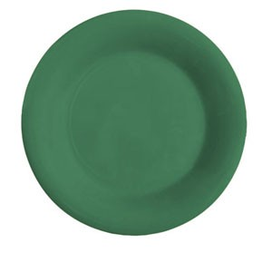 "GET Enterprises WP-12-FG Diamond Mardi Gras Rainforest Green Wide Rim Plate 12"" - 1 doz"