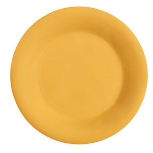 "GET Enterprises WP-5-TY Diamond Mardi Gras Tropical Yellow Wide Rim Plate 5-1/2"" - 4 doz"