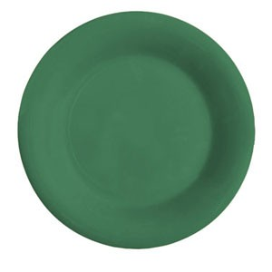 "GET Enterprises WP-6-FG Diamond Mardi Gras Rainforest Green Wide Rim Plate 6-1/2"" - 4 doz"