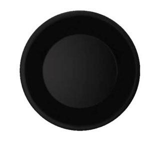 GET Enterprises WP-7-BK Black Elegance Wide Rim Plate 7-1/2& - 4 doz