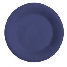 "GET Enterprises WP-7-PB Diamond Mardi Gras Peacock Blue Wide Rim Plate 7-1/2"" - 4 doz"
