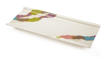 "GET Enterprises 140-CO Contemporary Melamine Rectangular Plate 9-1/2"" x 4-1/4"" - 1 doz"