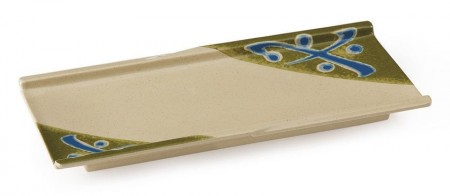 "GET Enterprises 140-TD Japanese Traditional Melamine Rectangular Plate 9-1/2"" x 4-1/4"""