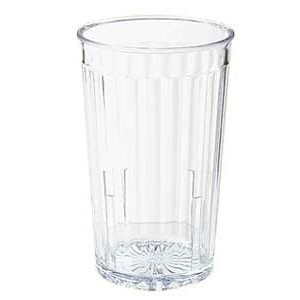 GET Enterprises 8816-1-CL Clear SAN Plastic Spektrum Tumbler 16 oz. - 6 doz