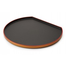 "GET Enterprises 902-14-RB Fuji Half Moon Tray 14"" - 1 doz"