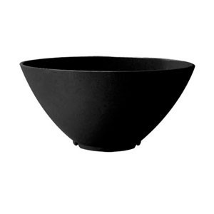 GET Enterprises B-791-BK San Michele Black Round Bowl 4 Qt.- 1/2 doz