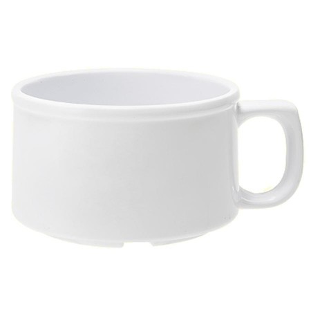 GET Enterprises BF-080-W Diamond White Melamine Mug 11 oz. - 2 doz