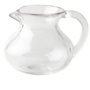 GET Enterprises CM-302-PC-CL Clear Polycarbonate Creamer 6 oz. - 2 doz