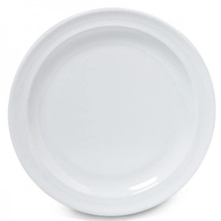 "GET Enterprises DP-508-W SuperMel White  Plate 8"" - 2 doz"