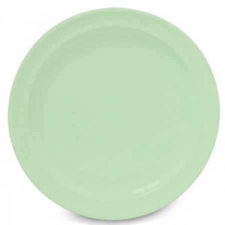"GET Enterprises DP-510-G SuperMel Green Dinner Plate 10-1/4"" - 2 doz"
