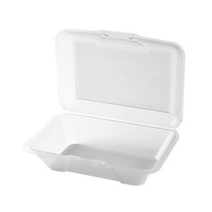 "GET Enterprises EC-04-1 Reusable Eco-Takeouts Container 9"" x 6-1/2"" x 2-1/2"" - 1 doz"