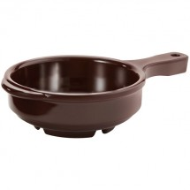GET Enterprises HSB-112-BK Ultraware Brown Bowl with Handle 12 oz. - 2 doz