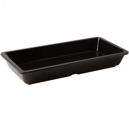 GET Enterprises ML-121-BK Milano Black Entree Dish 16 oz.