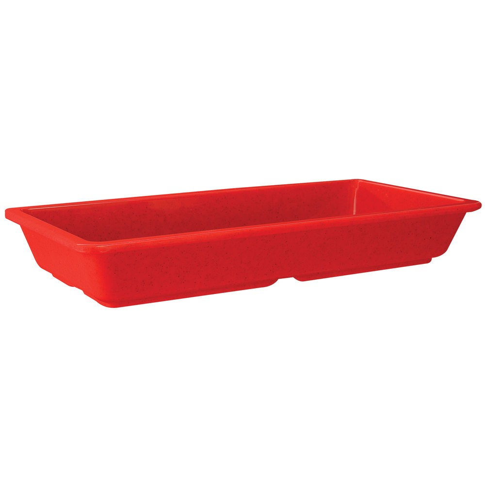 GET Enterprises ML-121-RSP Red Sensation Rectangular Entree Dish 9-1/4& x 4-3/4& - 1 doz