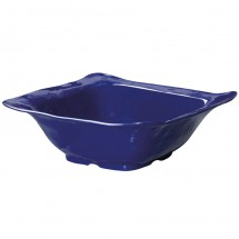 GET Enterprises ML-131-CB New Yorker Cobalt Blue Melamine Square Bowl 4.25 Qt. - 3 pcs