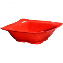 GET Enterprises ML-131-R New Yorker Red Melamine Square Bowl 4.25 Qt. - 3 pcs