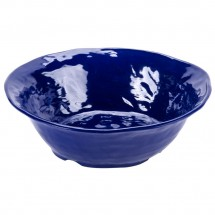 GET Enterprises ML-133-CB New Yorker Cobalt Blue Melamine Round Bowl 4.25 Qt. - 3 pcs