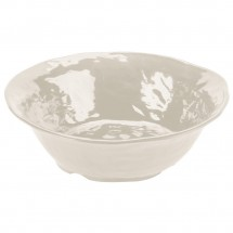 GET Enterprises ML-133-IV New Yorker Ivory Melamine Round Bowl 4.25 Qt. - 3 pcs
