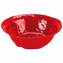 GET Enterprises ML-133-R New Yorker Red Melamine Round Bowl 4.25 Qt. - 3 pcs