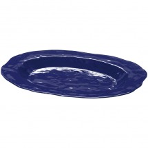 "GET Enterprises ML-137-CB New Yorker Cobalt Blue Melamine Oval Platter 17-3/4"" x 13"" - 3 pcs"