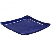 "GET Enterprises ML-147-CB New Yorker Cobalt Blue Melamine Square Plate 13-3/4"" - 3 pcs"