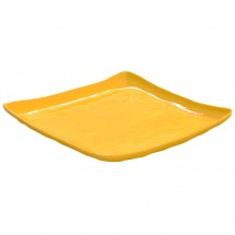"GET Enterprises ML-147-TY New Yorker Tropical Yellow Melamine Square Plate 13-3/4"" - 3 pcs"