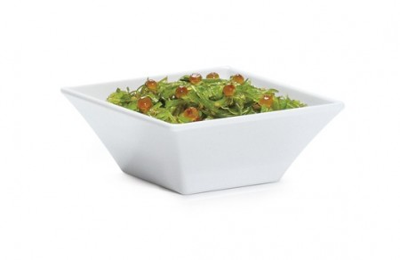 GET Enterprises ML-238-W Siciliano White Square Bowl 14 oz.- 1 doz