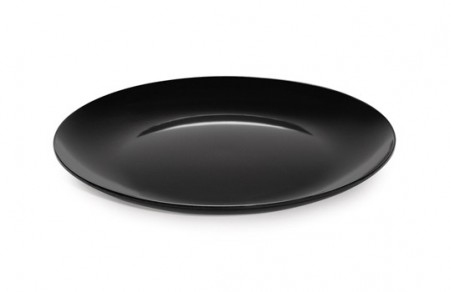 "GET Enterprises ML-240-BK Siciliano Black Round Display Platter 18"" - 3 pcs"