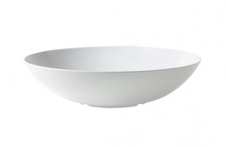 GET Enterprises ML-241-W Siciliano White Round Bowl 26.6 Qt.