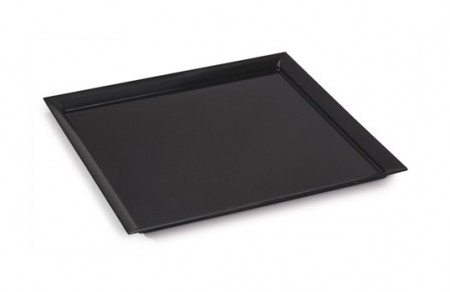 GET Enterprises ML-244-BK Siciliano Black Square Display Platter 24""