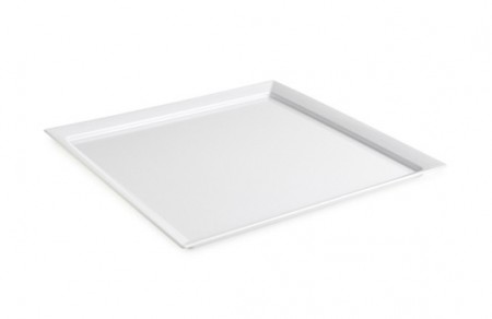 GET Enterprises ML-244-W Siciliano White Square Display Plate 24""