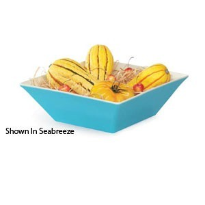 GET Enterprises ML-248-ST Keywest Sunset Square Melamine Bowl 5.7 Qt.- 3 pcs