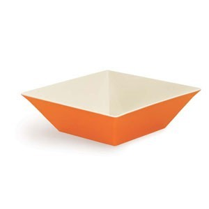 GET Enterprises ML-249-ST Keywest Sunset Square Melamine Bowl 12.8 Qt.- 3 pcs