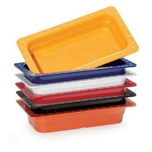 "GET Enterprises ML-29-BUI Melamine Quarter Size Food Pan 2-1/2"" - 6 pcs"