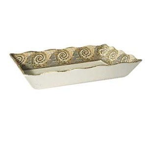 "GET Enterprises ML-88-MO Mosaic Rectangular Melamine Tray 13 3/4"" x 9 3/4"" - 1/2 doz"