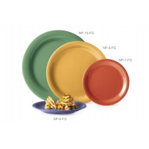 "GET Enterprises NP-10-FG Diamond Mardi Gras Rainforest Green Narrow Rim Plate 10-1/2"" - 1 doz"
