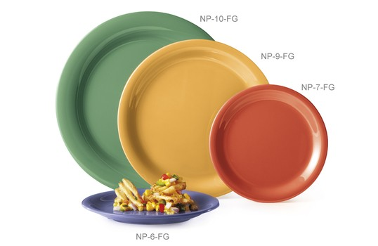 "GET Enterprises NP-10-MIX Diamond Mardi Gras Mix Narrow Rim Plate 10-1/2"" - 1 doz"