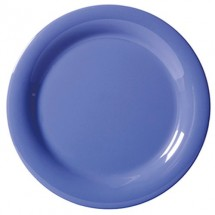 "GET Enterprises NP-10-PB Diamond Mardi Gras Peacock Blue Narrow Rim Plate 10-1/2"" - 1 doz"