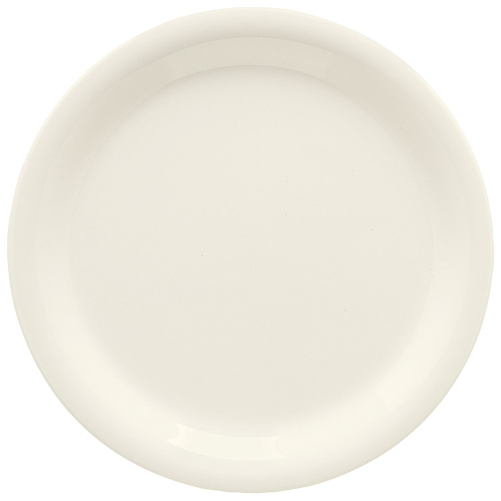 "GET Enterprises NP-6-DI Diamond Ivory Narrow Rim Plate 6-1/2"" - 4 doz"