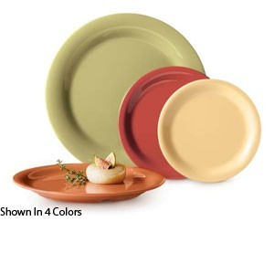 "GET Enterprises NP-7-AV Diamond Harvest Avocado Narrow Rim Plate 7-1/4"" - 4 doz"