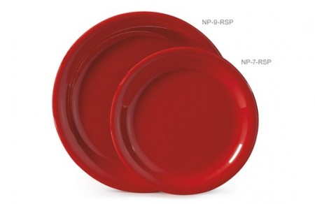 "GET Enterprises NP-9-RSP Red Sensation Narrow Rim Plate 9"" - 2 doz"