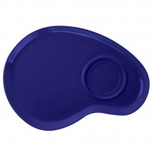 "GET Enterprises PP-976-CB Let's Party Cobalt Blue Palette Plate 12"" - 1 doz"