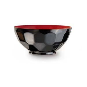 GET Enterprises RB-122-RB Fuji Red / Black Bowl 11 oz. - 1 doz