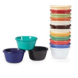 GET Enterprises RM-400-MIX Pack of Mardi Gras Colors Mix Ramekin 4 oz. - 4 doz