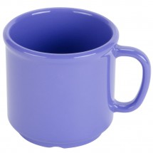 GET Enterprises S-12-PB Diamond Mardi Gras Peacock Blue SAN Mug 12 oz.