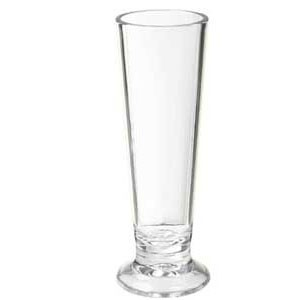 GET Enterprises SW-1416-1-CL Clear SAN Plastic Pilsner Shot Glass 2 oz. - 2 doz